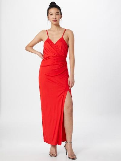 Bardot Kleid in rot, Modelansicht