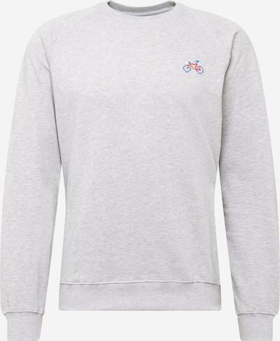 DEDICATED. Sweater majica u plava / siva melange / crvena, Pregled proizvoda