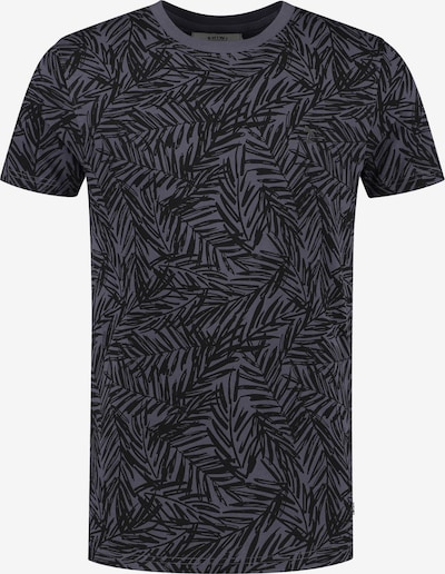 Shiwi T-Shirt in taubenblau / schwarz, Produktansicht