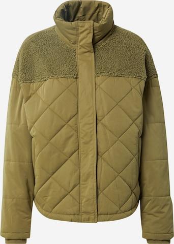 Urban Classics Between-Season Jacket 'Diamond Quilt' in Green