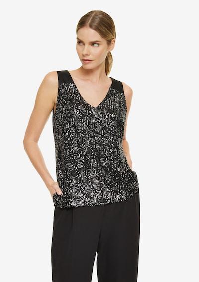 COMMA Bluse in schwarz, Modelansicht