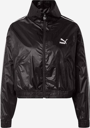 PUMA Prehodna jakna | črna / bela barva, Prikaz izdelka