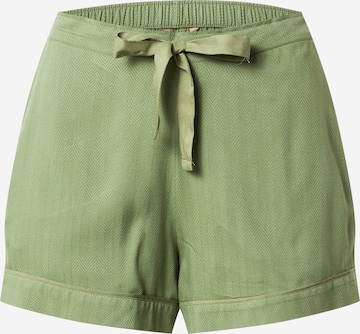 Cyberjammies Pyjamashorts 'Natalie Green Herrinbone Shorts' in Grün