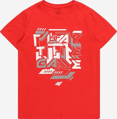 4F Sportshirt in grau / rot / weiß, Produktansicht