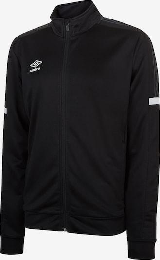 UMBRO Trainingsjacke in schwarz / weiß, Produktansicht