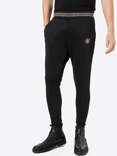 SikSilk Spodnie w kolorze złoty / czarnym, Podgląd na modelu(-ce)