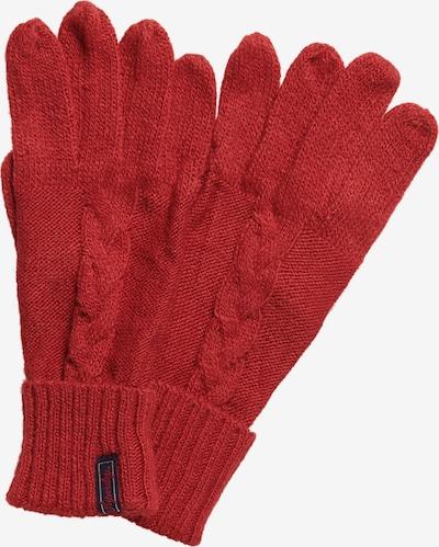 Superdry Vingerhandschoenen in de kleur Donkerrood, Productweergave