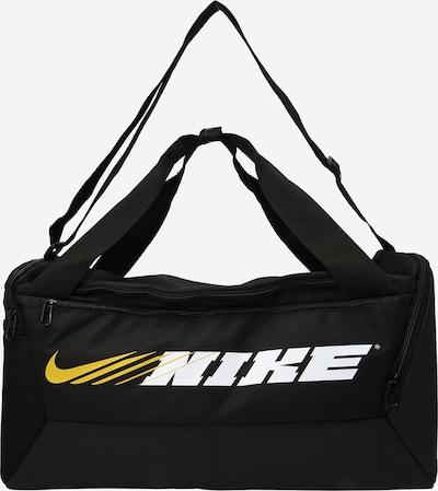 NIKE Sportväska 'Brasilia' i gul / svart / vit, Produktvy