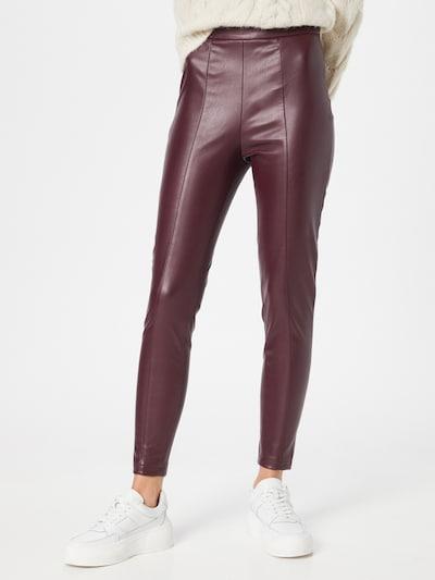 VILA Leggingsit 'SYBILLE' värissä burgundin punainen, Mallinäkymä