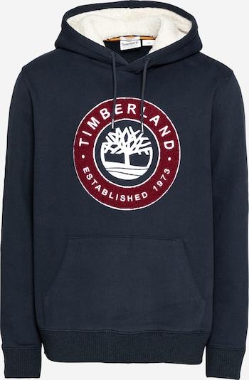 TIMBERLAND Sweatshirt in dunkelblau / dunkelrot / weiß, Produktansicht