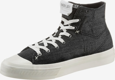 REPLAY Baskets hautes 'Rebel Dust' en noir / blanc, Vue avec produit