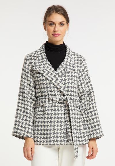 usha BLACK LABEL Manteau mi-saison en crème / gris, Vue avec modèle