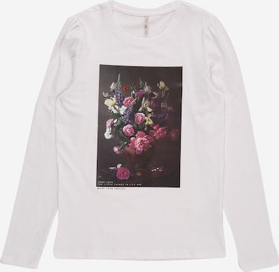KIDS ONLY Shirt 'Flora' in mischfarben / weiß, Produktansicht