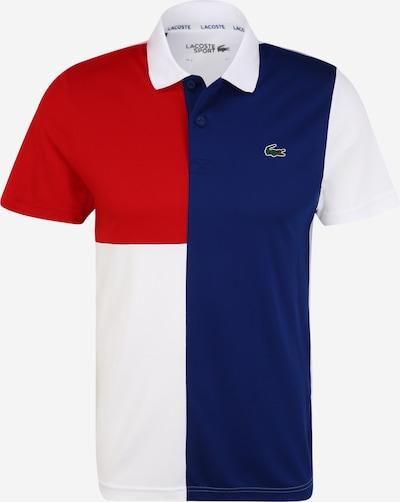 Lacoste Sport Functioneel shirt in de kleur Blauw / Rood / Wit, Productweergave