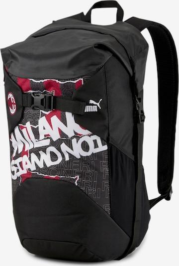 PUMA Rucksack 'AC Milan' in grenadine / schwarz / weiß, Produktansicht