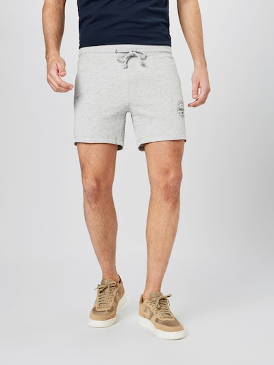 JACK & JONES Shorts 'MORE' in graumeliert / schwarz, Modelansicht
