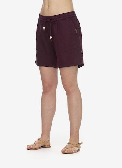 Ragwear Shorts in weinrot, Modelansicht