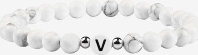 GOOD.designs Armband in schwarz / silber / weiß, Produktansicht