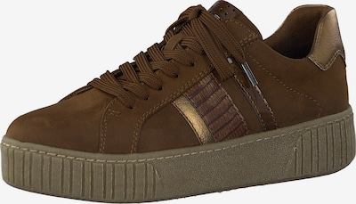 MARCO TOZZI Låg sneaker i mörkbrun / guld, Produktvy