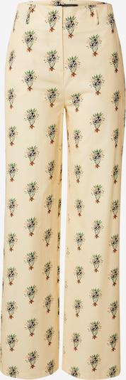 Pantaloni Trendyol pe ecru / verde / negru, Vizualizare produs