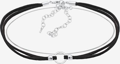 ELLI Parure de bijoux en noir / argent, Vue avec produit