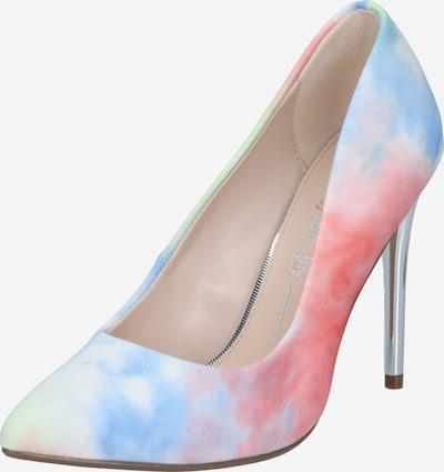 BUFFALO Escarpins 'ROSELLE' en bleu clair / corail / blanc, Vue avec produit