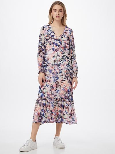 ONLY Kleid 'Zoe' in blau / navy / hellgrün / dunkelorange / weiß, Modelansicht