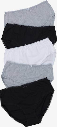 Ulla Popken Slip in grau / schwarz / weiß, Produktansicht