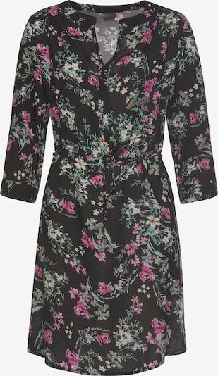LAURA SCOTT Hemdblusenkleid in mischfarben / dunkelpink / schwarz, Produktansicht