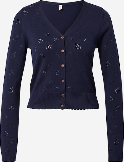 Blutsgeschwister Knit Cardigan 'Save the World' in Navy, Item view