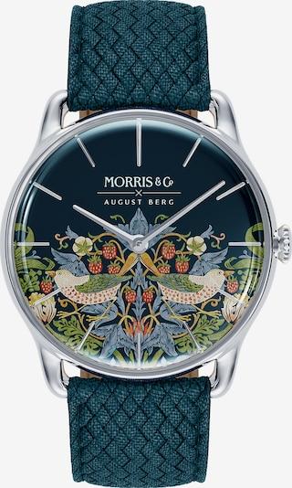 August Berg Uhr 'MORRIS & CO Silver Indigo Perlon 38mm' in blau, Produktansicht