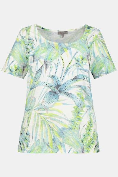Gina Laura T-Shirt in blau / grün / weiß, Produktansicht