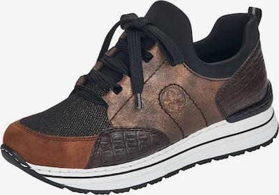 RIEKER Platform trainers in Caramel / Dark brown / mottled brown / Black, Item view