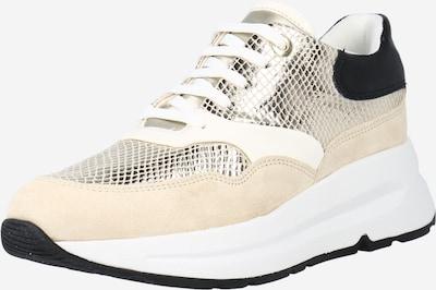 GEOX Zemie brīvā laika apavi 'BACKSIE' smilškrāsas / Zelts / melns, Preces skats