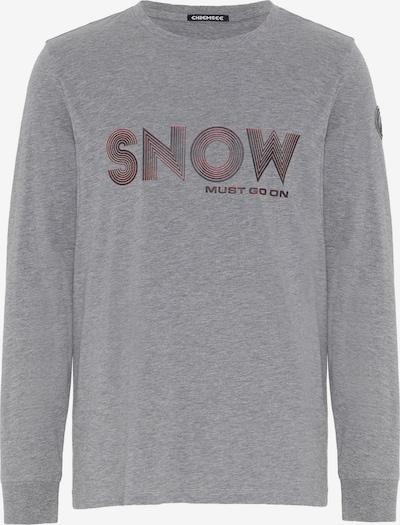 CHIEMSEE Sport-Shirt 'ORTLER' in graumeliert / lachs / schwarz, Produktansicht