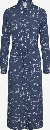AWARE by Vero Moda Kleid 'Odea' in taubenblau / weiß, Produktansicht