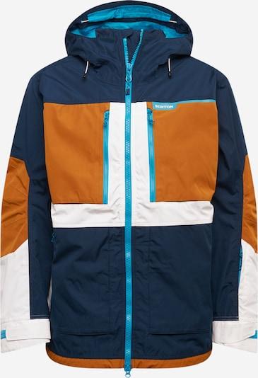 BURTON Outdoorová bunda - tmavě modrá / karamelová / bílá, Produkt