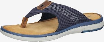 SALAMANDER T-Bar Sandals in Blue