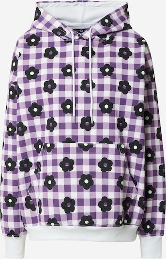Daisy Street Sweatshirt 'MAYA' in lila / dunkellila / weiß, Produktansicht