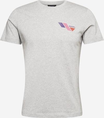 DIESEL Tričko 'T-DIEGOS-K11' - šedá / fialová / růžová / červená, Produkt