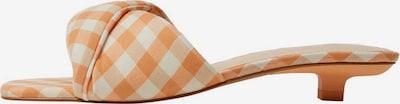 MANGO Sandale in beige / pastellorange / weiß, Produktansicht