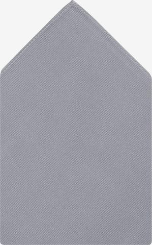 SEIDENSTICKER Einstecktuch ' Schwarze Rose ' in Grau