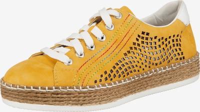 Sneaker low RIEKER pe galben șofran / alb, Vizualizare produs