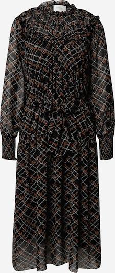 Rochie tip bluză 'Sean' SECOND FEMALE pe gri deschis / roșu ruginiu / negru, Vizualizare produs