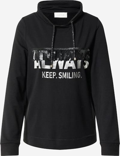Cartoon Sweatshirt in schwarz / silber, Produktansicht