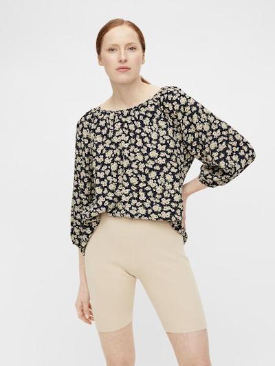 OBJECT Bluse 'OBJANMIRA' in beige / dunkelblau / oliv / rosa, Modelansicht