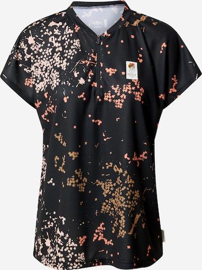 Maloja Sortshirt 'All Mountain' in beige / zitrone / pastellorange / schwarz, Produktansicht