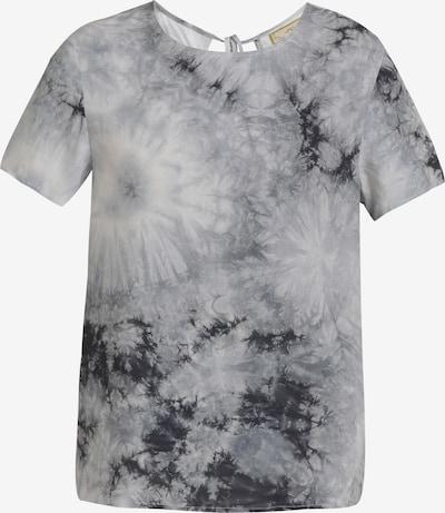 Tricou MYMO pe negru amestecat / alb amestacat, Vizualizare produs