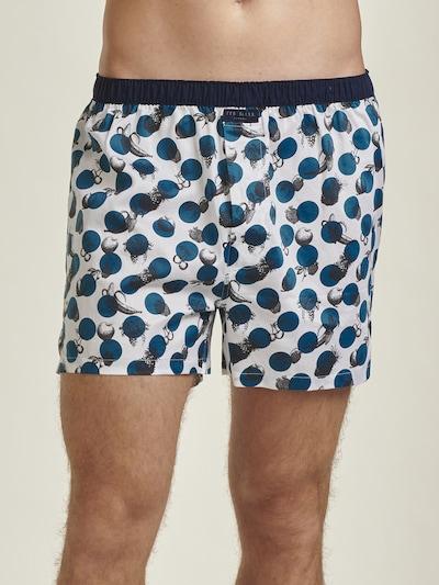 Ted Baker Pyjama in dunkelblau / weiß: Frontalansicht