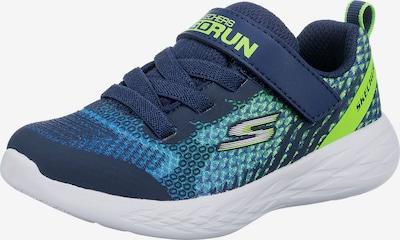SKECHERS Sneakers 'Go Run' in de kleur Blauw / Navy / Lichtblauw / Lichtgroen, Productweergave